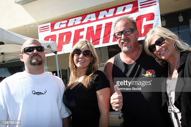 TV personality Jarrod Schulz Brandi Passante Darrell Sheets and guest attend the Storage Wars Stars Jarrod Schulz And Brandi Passante Store Opening...