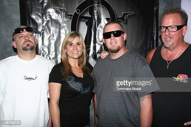 TV personality Jarrod SchulzBrandi Passante Brandon Sheets and Darrell Sheets attend the Storage Wars Stars Jarrod Schulz And Brandi Passante Store...