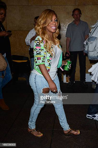 TV personality Jas Fly enters the Sirius XM Studios on May 21 2013 in New York City