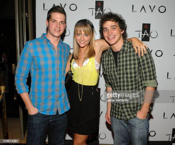 Personality Jason Kennedy, actress Johanna Braddy and actor Patrick Sebes attend the TAO and LAVO anniversary weekend held at LAVO in the Palazzo...