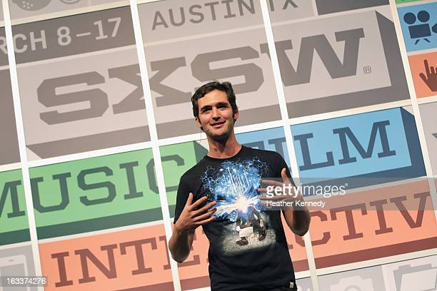 TV personality Jason Silva speaks at Technology Imagination Exponential Thinking during the 2013 SXSW Music Film Interactive Festival at Austin...