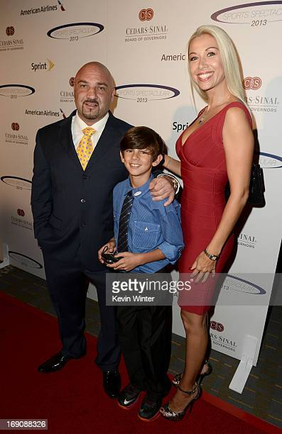 TV personality Jay Glazer and Christina Hickman and guest attend the 28th Anniversary Sports Spectacular Gala at the Hyatt Regency Century Plaza on...