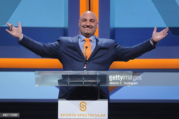 TV personality Jay Glazer on stage at the 2014 Sports Spectacular Gala at the Hyatt Regency Century Plaza on May 18 2014 in Century City California