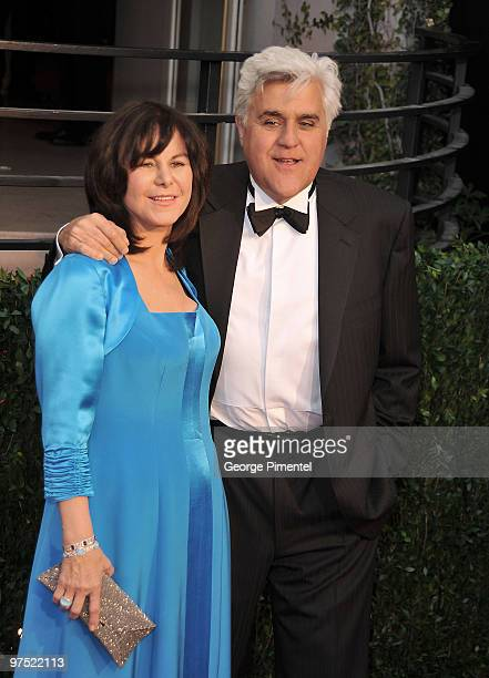 TV personality Jay Leno and Mavis Leno arrive at the 2010 Vanity Fair Oscar Party hosted by Graydon Carter held at Sunset Tower on March 7 2010 in...