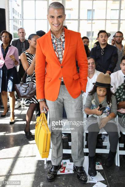 TV personality Jay Manuel attends the Duckie Brown fashion show during MercedesBenz Fashion Week Spring 2014 at Industria Superstudio on September 6...