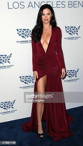 TV personality Jayde Nicole attends the Humane Society of the United States' Los Angeles Benefit gala at the Regent Beverly Wilshire Hotel on May 16...