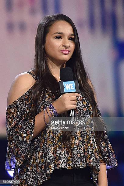 TV personality Jazz Jennings speaks onstage at WE Day California 2016 at The Forum on April 7 2016 in Inglewood California