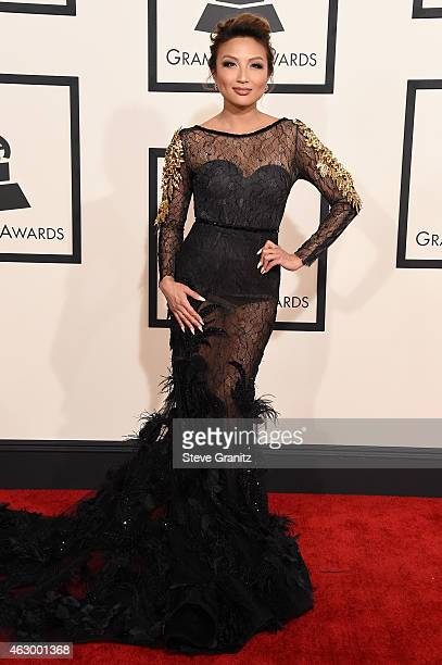 TV personality Jeannie Mai attends The 57th Annual GRAMMY Awards at the STAPLES Center on February 8 2015 in Los Angeles California