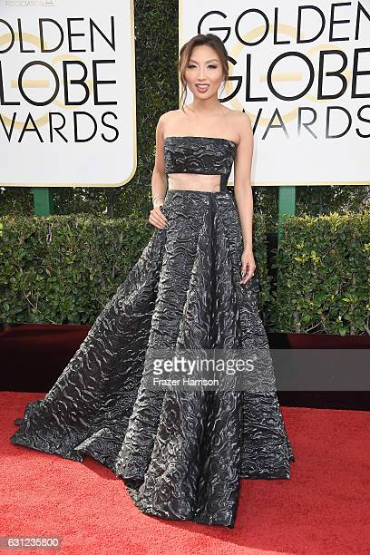 TV personality Jeannie Mai attends the 74th Annual Golden Globe Awards at The Beverly Hilton Hotel on January 8 2017 in Beverly Hills California