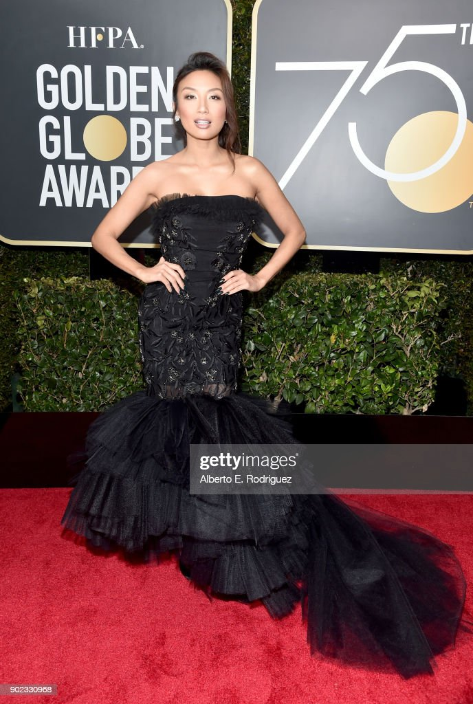 TV Personality Jeannie Mai attends The 75th Annual Golden Globe Awards at The Beverly Hilton Hotel on January 7, 2018 in Beverly Hills, California.