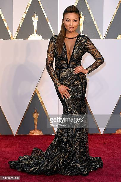 TV personality Jeannie Mai attends the 88th Annual Academy Awards at Hollywood Highland Center on February 28 2016 in Hollywood California