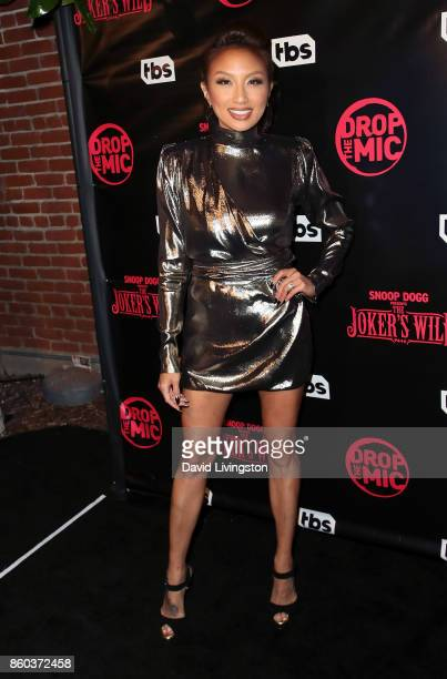 TV personality Jeannie Mai attends the premiere for TBS's 'Drop The Mic' and 'The Joker's Wild' at The Highlight Room on October 11 2017 in Los...