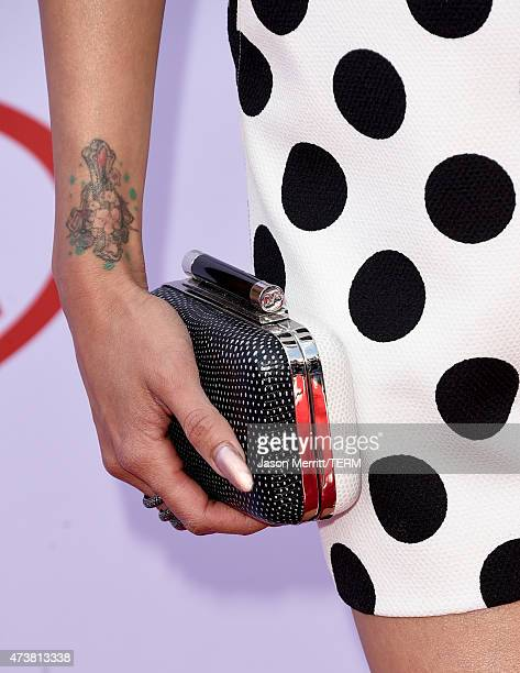 TV personality Jeannie Mai fashion detail attends the 2015 Billboard Music Awards at MGM Grand Garden Arena on May 17 2015 in Las Vegas Nevada
