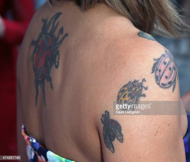 TV personality Jeannie Mai tattoo detail attends the 17th Annual CAST From Slavery to Freedom Gala at the Skirball Cultural Center on May 21 2015 in...