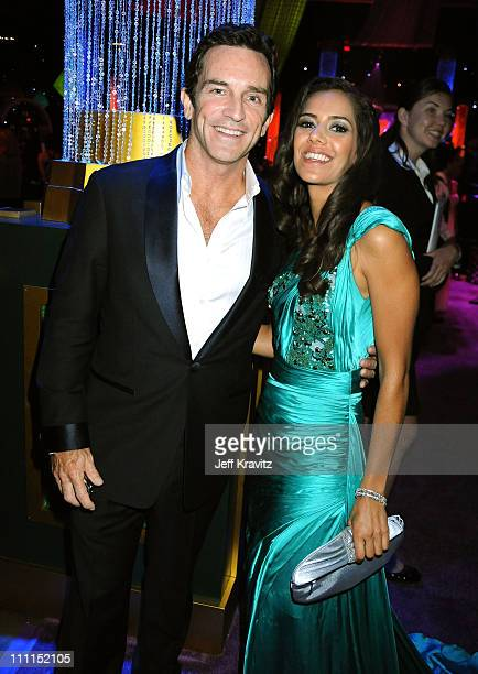 TV personality Jeff Probst and Sheetal Sheth attend the Governors Ball for the 61st Primetime Emmy Awards held at the Los Angeles Convention Center...