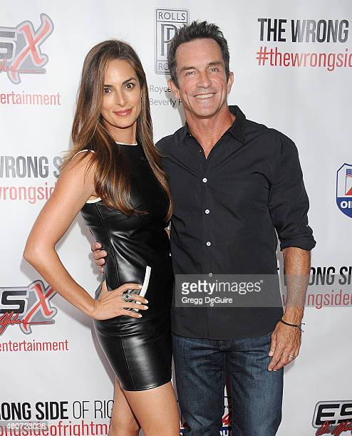 TV personality Jeff Probst and wife Lisa Ann Russell arrive at the premiere of ESX Productions' The Wrong Side Of Right at TCL Chinese Theatre on...