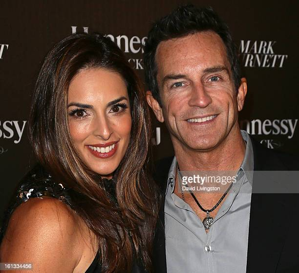 TV personality Jeff Probst and wife Lisa Ann Russell attend the Hennessy Toasts Achievements In Music event with GRAMMY Host LL Cool J and Mark...