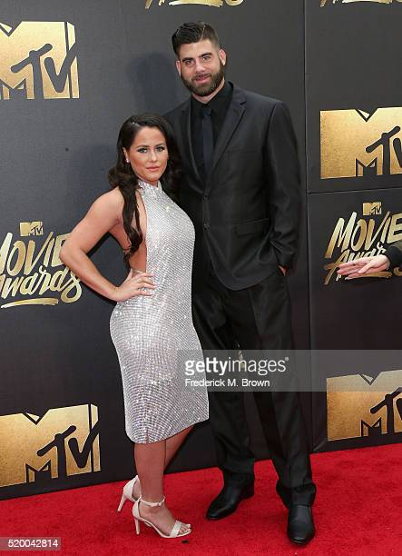 TV personality Jenelle Evans and David Eason attend the 2016 MTV Movie Awards at Warner Bros Studios on April 9 2016 in Burbank California MTV Movie...