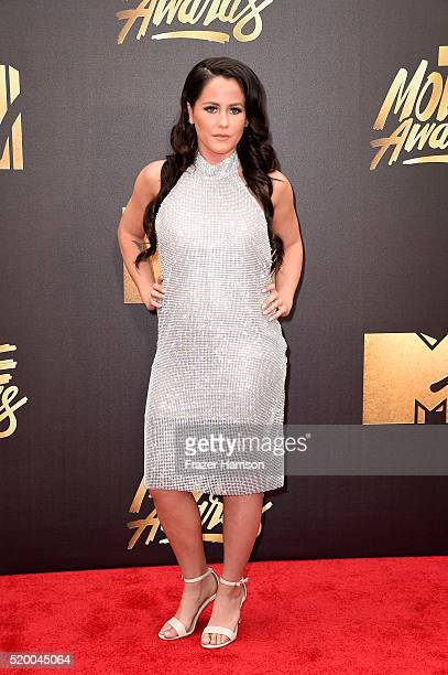 TV personality Jenelle Evans attends the 2016 MTV Movie Awards at Warner Bros Studios on April 9 2016 in Burbank California MTV Movie Awards airs...
