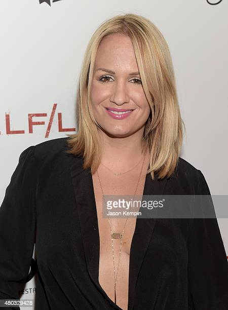 Personality Jenn Brown attends Playboy and Gramercy Pictures' Self/less party during Comic-Con weekend at Parq Restaurant & Nightclub on July 10,...