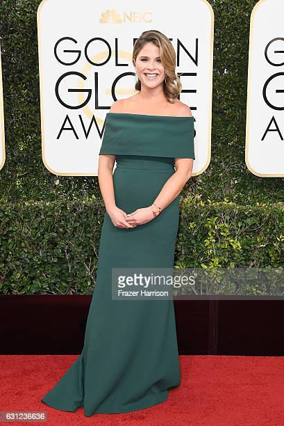 TV personality Jenna Bush Hager attends the 74th Annual Golden Globe Awards at The Beverly Hilton Hotel on January 8 2017 in Beverly Hills California