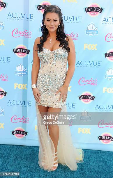 TV personality Jenni JWoww Farley arrives at the 2013 Teen Choice Awards at Gibson Amphitheatre on August 11 2013 in Universal City California