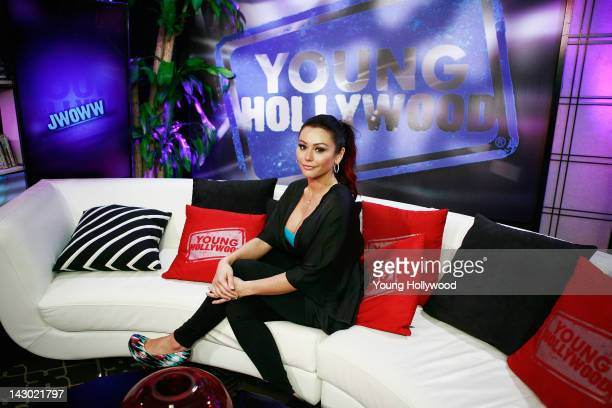 TV personality Jenni 'JWOWW' Farley at the Young Hollywood Studio on April 17 2012 in Los Angeles California