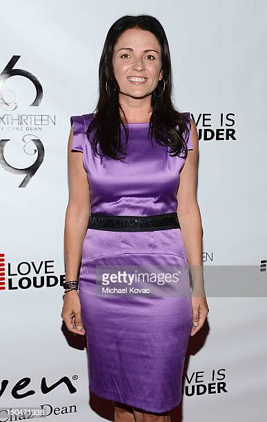 TV personality Jenni Pulos attends Chaz Dean's Birthday Party Benefiting Love Is Louder on August 18 2012 in Los Angeles California