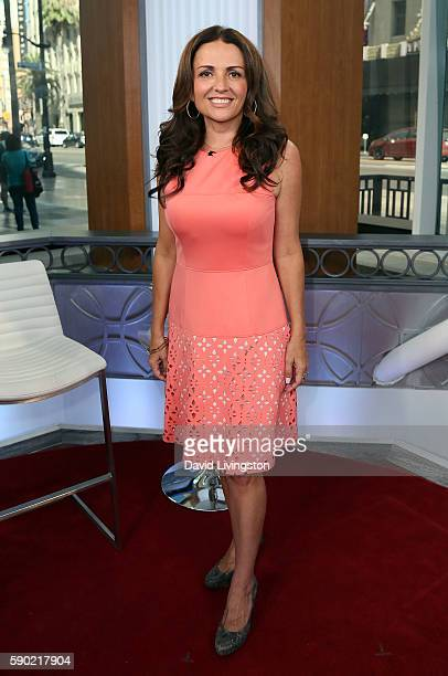 TV personality Jenni Pulos visits Hollywood Today Live at W Hollywood on August 16 2016 in Hollywood California