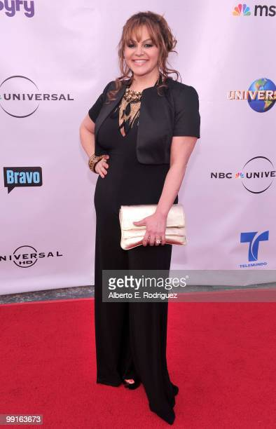 TV personality Jenni Rivera arrives at The Cable Show 2010 An Evening With NBC Universal on May 12 2010 in Universal City California