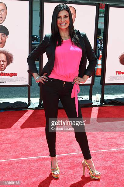 TV personality Jennifer Gimenez arrives at The Three Stooges premiere at Grauman's Chinese Theatre on April 7 2012 in Hollywood California