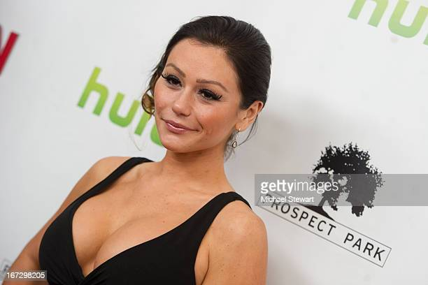 TV personality Jennifer 'JWoww' Farley attends the 'All My Children' 'One Life To Live' premiere at Jack H Skirball Center for the Performing Arts on...