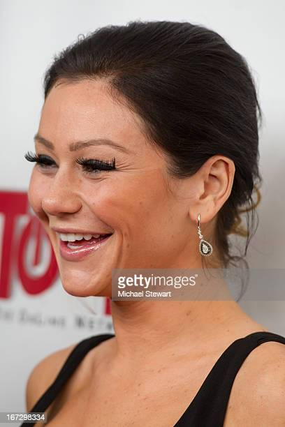 """Personality Jennifer 'JWoww' Farley attends the """"All My Children"""" & """"One Life To Live"""" premiere at Jack H. Skirball Center for the Performing Arts on..."""