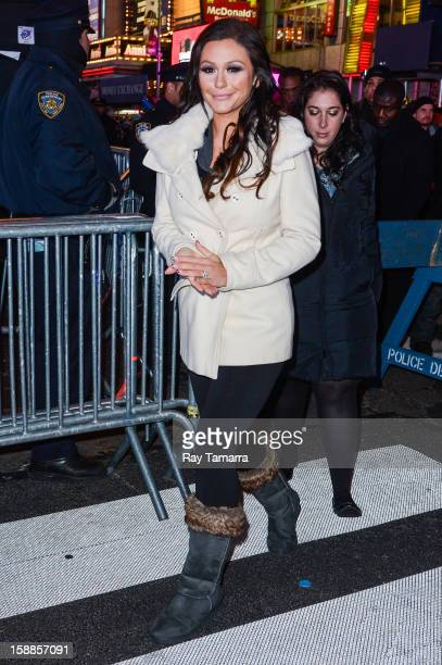 TV personality Jennifer JWoww Farley leaves the New Year's Eve 2013 in Times Square on December 31 2012 in New York City