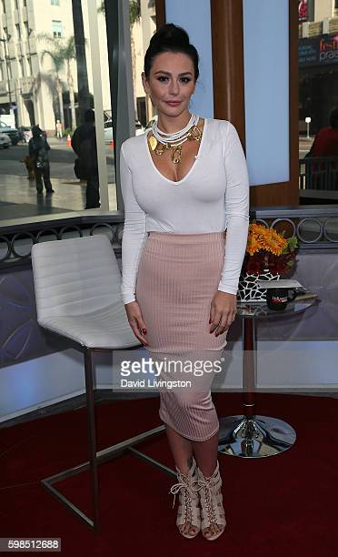 TV personality Jennifer Lynn Jenni Farley aka JWoww visits Hollywood Today Live at W Hollywood on September 1 2016 in Hollywood California