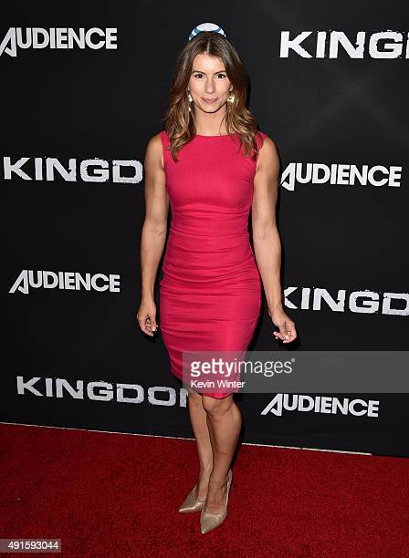 TV personality Jennifer Widerstrom attends the premiere of DIRECTV's Kingdom Season 2 at SilverScreen Theater at the Pacific Design Center on October...