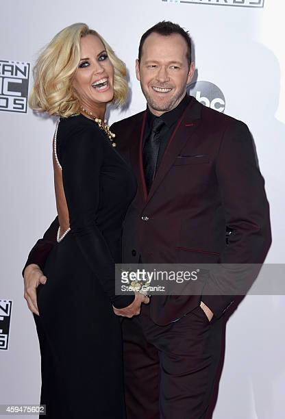 TV personality Jenny McCarthy and actor Donnie Wahlberg attend the 2014 American Music Awards at Nokia Theatre LA Live on November 23 2014 in Los...