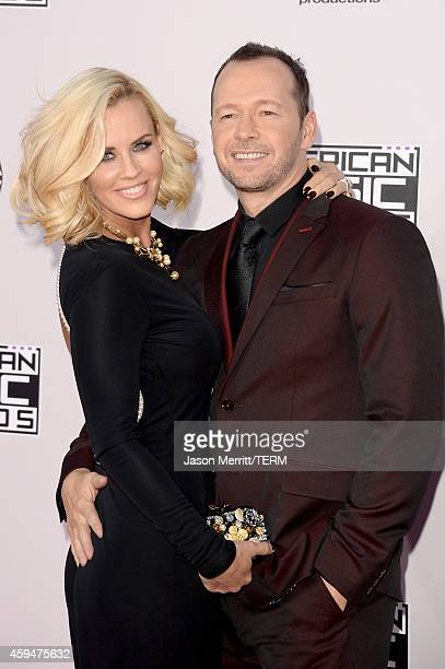 TV personality Jenny McCarthy and actor/singer Donnie Wahlberg attend the 2014 American Music Awards at Nokia Theatre LA Live on November 23 2014 in...
