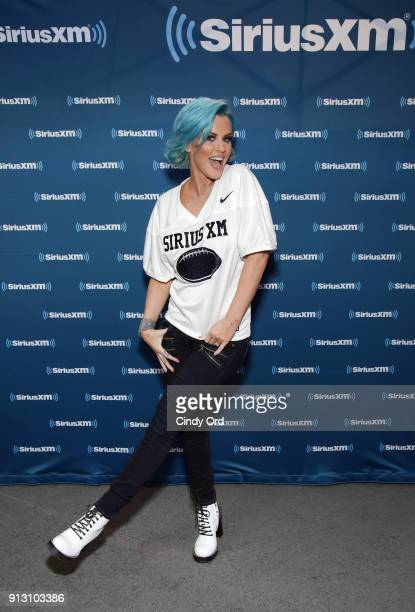 TV personality Jenny McCarthy attends SiriusXM at Super Bowl LII Radio Row at the Mall of America on February 1 2018 in Bloomington Minnesota