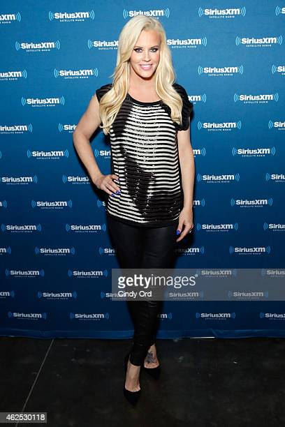 TV personality Jenny McCarthy attends SiriusXM at Super Bowl XLIX Radio Row at the Phoenix Convention Center on January 30 2015 in Phoenix Arizona