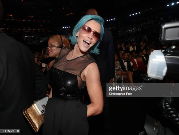 Personality Jenny McCarthy attends the 60th Annual GRAMMY Awards at Madison Square Garden on January 28 2018 in New York City