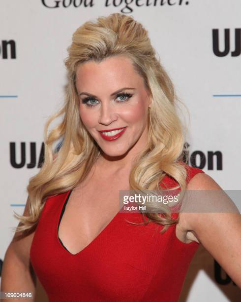 TV personality Jenny McCarthy attends the UJAFederation Of New York Entertainment Media And Communications Leadership Awards Dinner at Pier Sixty at...