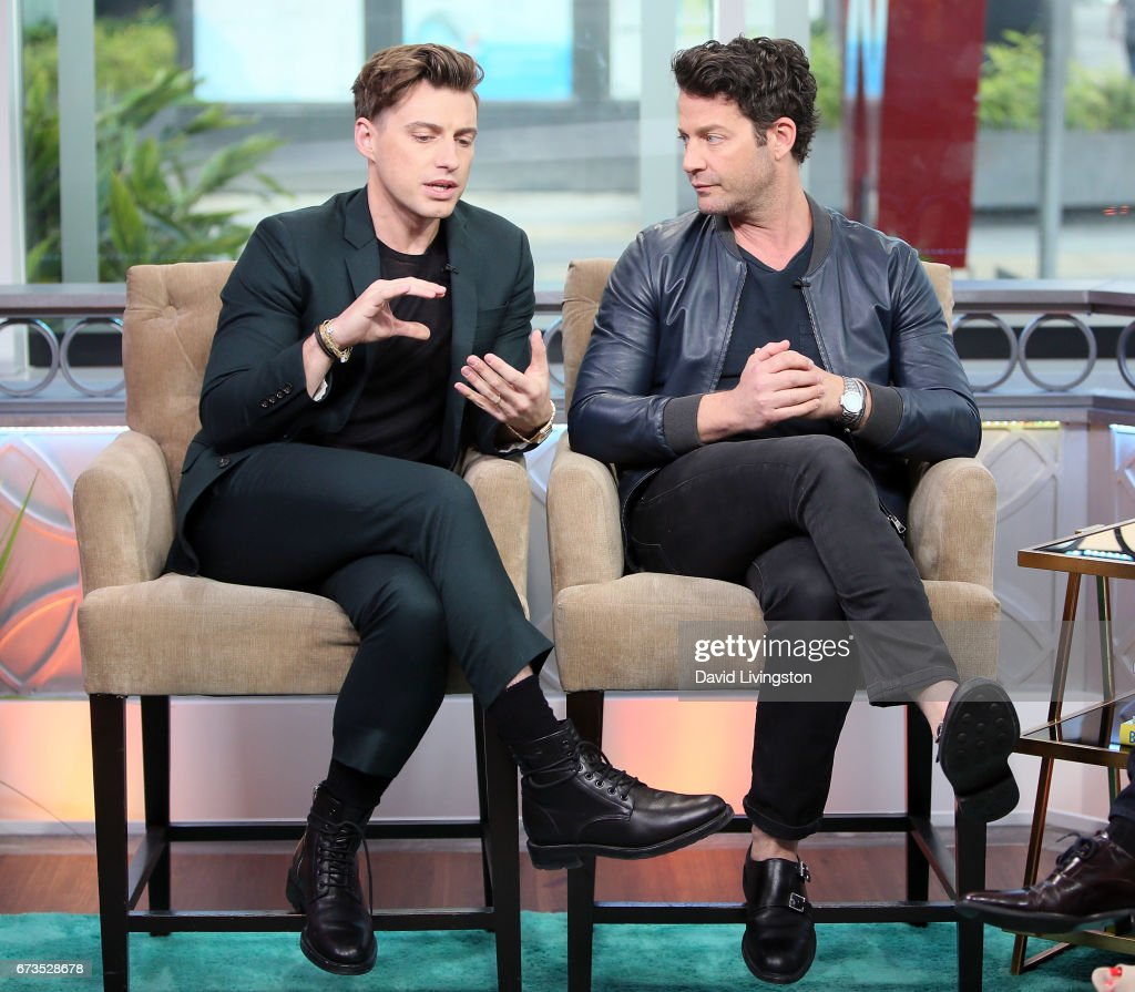 TV personality Jeremiah Brent (L) and spouse/TV personality Nate Berkus visit Hollywood Today Live at W Hollywood on April 26, 2017 in Hollywood, California.