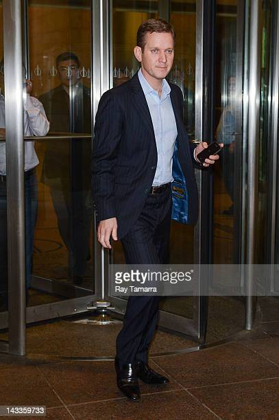 TV personality Jeremy Kyle leaves the Sirius XM Studios on April 24 2012 in New York City