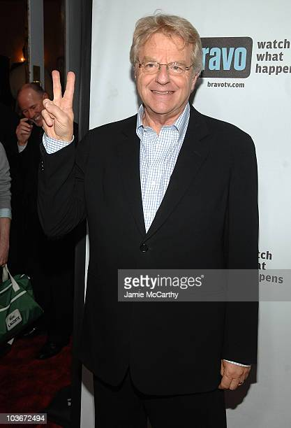 TV personality Jerry Springer attends Bravo's 1st AList Awards at the Hammerstein Ballroom on June 4 2008 in New York City