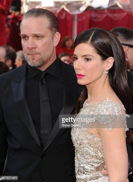 TV personality Jesse James and actress Sandra Bullock arrive at the 82nd Annual Academy Awards held at the Kodak Theatre on March 7 2010 in Hollywood...
