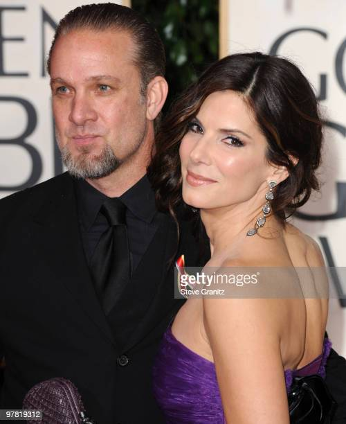 TV personality Jesse James and wife actress Sandra Bullock attends the 67th Annual Golden Globes Awards at The Beverly Hilton Hotel on January 17...