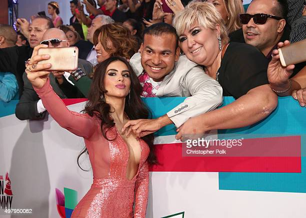 TV personality Jessica Cediel attends the 16th Latin GRAMMY Awards at the MGM Grand Garden Arena on November 19 2015 in Las Vegas Nevada