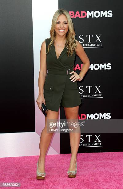 TV personality Jessica Hall attends the premiere of STX Entertainment's Bad Moms at Mann Village Theatre on July 26 2016 in Westwood California