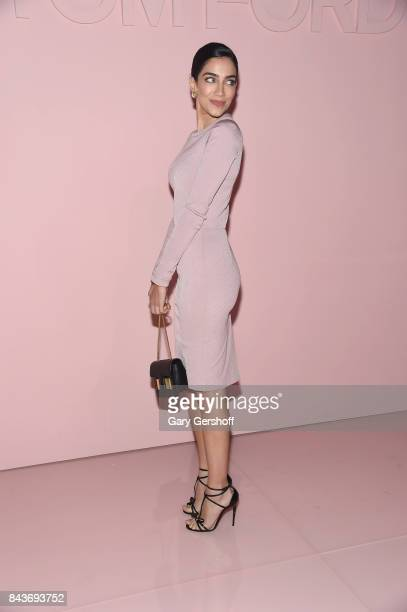 Personality Jessica Kahawaty attends the Tom Ford fashion show during New York Fashion Week on September 6, 2017 in New York City.